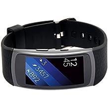 Woodln Silicón Repuesto Correa Reloj Band para Samsung Gear Fit2 SM-R360 Actividad Deporte Inteligente Accesorios Correas de Reloj (Black)