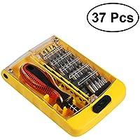 UKCOCO Juego de destornilladores magnéticos 37 en 1 Juego de destornilladores magnéticos de precisión multiusos Herramientas de reparación de computadoras por teléfono