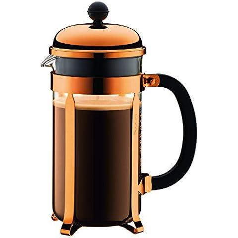 Bodum Chambord - Cafetera, 8 tazas, 1 l, color cobre