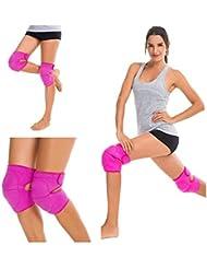 1paio adulti compressione ginocchiera sportiva protettiva Gear spugna imbottita indeformabile ginocchiera tutore per manicotto scalda per sport equitazione pattinaggio fitness-pain-relief