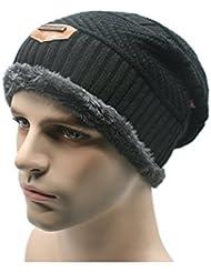 Esquí sombrero caliente Cable YACUN hombres Knit flexible grueso gorro de lana