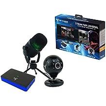 Stream Pack accesorios de captura de vídeo Full HD, micrófono y cámara HD para PS4/PS4 Slim/PS4 Pro/Xbox One/PC/Nintendo Switch
