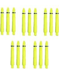 Cañas Dardos Dardos con anillo de muelle–Longitud aprox. 3,5cm–amarillo neón–15unidades)