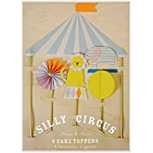 Silly Circus Cake Toppers S/4