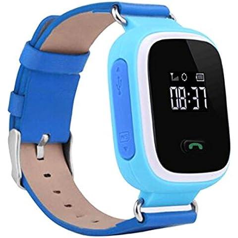 Nueva anti-lost GPS localizar Monitor niños reloj inteligente teléfono para Android IOS azul