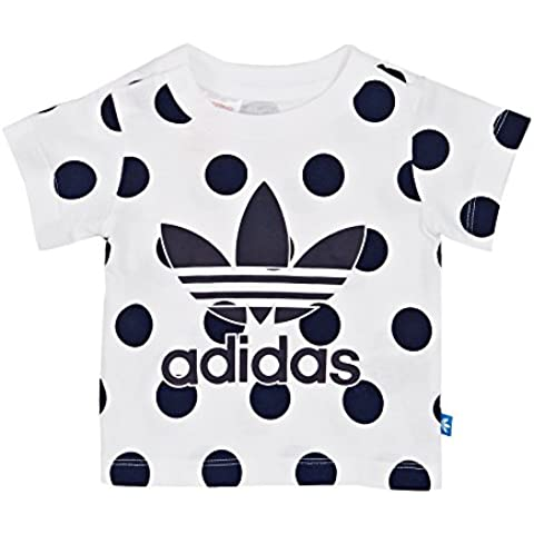 adidas Originals - Camiseta - para mujer White/Blue/Black Talla:74
