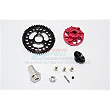 Traxxas Slash 4x4 Low-CG Version Upgrade Parts Aluminium Gear Adapter With Steel 32 Pitch 54T Spur Gear & 20T Motor Gear - 1 Set Red