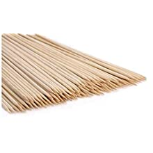 TWB Bamboo Sticks 40cm x100 Wooden Skewers Sticks Extra Long Strong For BBQ Barbecue Kebab Marshmallow Roasting Chocolate Fountain Campfire Fondue
