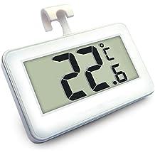 Thermomètre Réfrigérateur, AIGUMI thermomètre numérique étanche Congélateur Réfrigérateur Avec facile à lire écran LCD et Max ...
