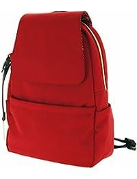 BUGATTI® Contratempo Ladies Rucksack   Damen-Rucksack mit Reißverschluss im Querformat   Hochwertiger Damen-Rucksack aus Nylon mit Laptopfach