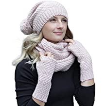 HILLTOP - Ensemble hiver combo - écharpe d hiver, bonnet bonnet en tricot d104be7e911