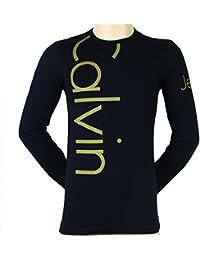 CALVIN KLEIN JEANS t-shirt manches longues CMP53U hommes Noir et doré - tailles XS,S,M,L,XL