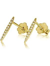 ff2f33479505 Pendientes Mujer Oro y Diamantes - Oro Amarillo 9 Quilates 375 ♥ Diamantes  0.07 Quilates - joyas de fantasía…