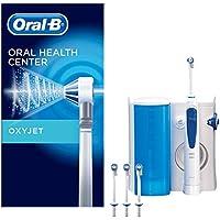 Oral-B Oxyjet - Sistema di pulizia in profondità con Idropulsore, Pressione del getto d'acqua regolabile, Tecnologia con microbollicine, 4 Testine