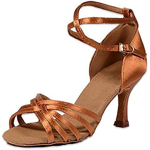SONGYUNYANFondo suave mujer raso Latina de baile zapatos de baile , 35