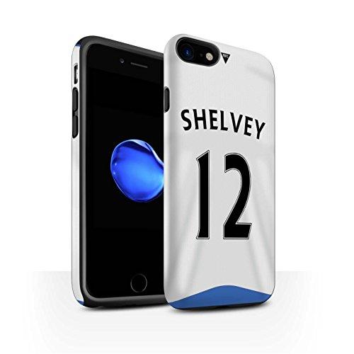 Officiel Newcastle United FC Coque / Matte Robuste Antichoc Etui pour Apple iPhone 7 / Taylor Design / NUFC Maillot Domicile 15/16 Collection Shelvey