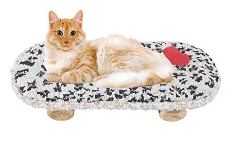 Captain Katzenminze Handgefertigt Skateboard Katze Betten Bequemer Skate für ruhigen Schlaf für Katzen, Kätzchen, und Kleine Haustiere - Pro Style Wärmer