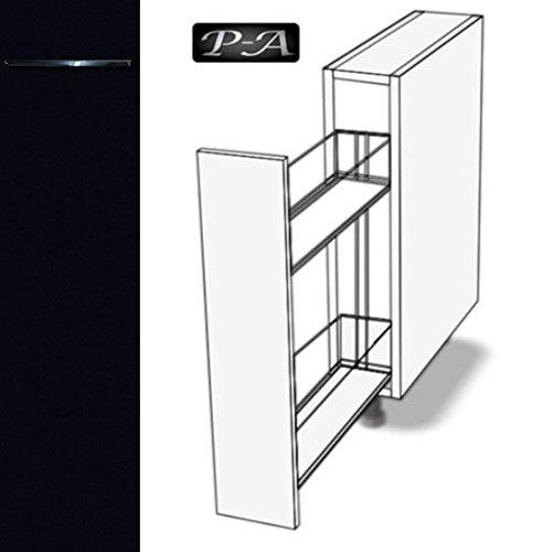 #Premium-Ambiente ASEPA066 Unterschrank Apothekerschrank 20cm breit FE (66 Schwarz)#