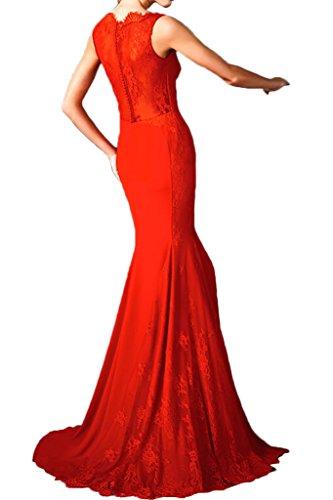 Victory Bridal 2016 Neu Festlich Rot Spitze Abendkleider Ballkleider Celebrity Damen Kleider Lang Figurbetont Rot