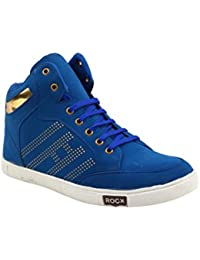 Smoky Blue Coloured Casual Sneakers For Men - B0748KR5R5
