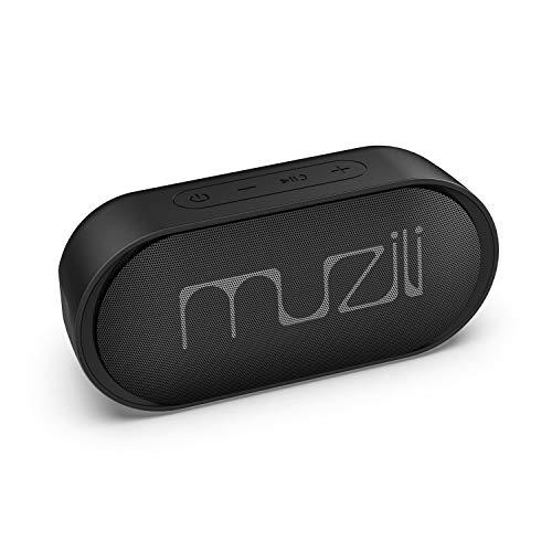 Haut-Parleur Enceinte Bluetooth sans Fil, Muzili Mode Stéréo et Longue Durée de Lecture Continue 15h IPX7 Étanche 22M Portée de Transmission Assistant Vocal Fonction d'Arrêt Automatique pour Voiture