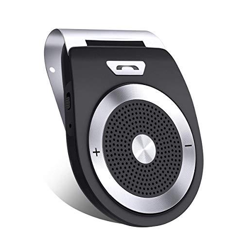 TobeTree Kit Vivavoce per Auto Bluetooth 4.1 Speaker, Controllo Sensore Auto Accensione, Connettere due dispositivi di smartphone contemporaneamente, supporta il GPS/Siri/ Musica/Chiamate
