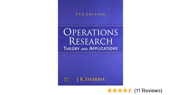 Pdf book sharma research by operations jk