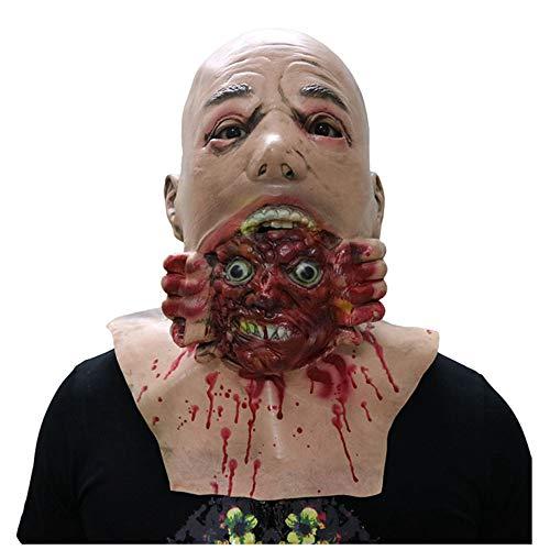 Maske YN Ekelhafte Gesicht Zombie Horror Tongue Puppe Puppe Halloween Spukhaus Requisiten Walking Corpse Stirnband