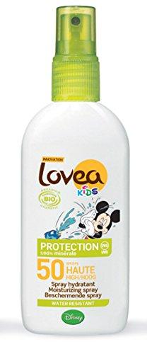 Lovea Disney Kids Bio Sonnenschutz-Spray, LSF 50, wasserfest, 100% natürlich, 100ml -