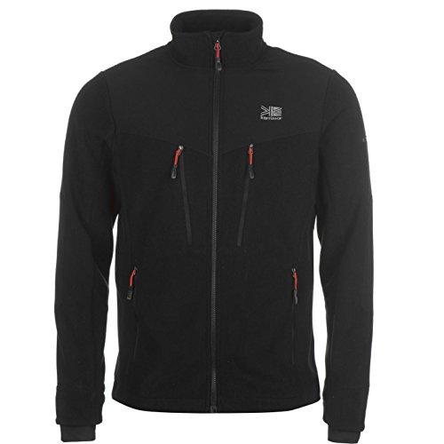 Karrimor Herren Fleece Jacke Sweatjacke Warm Sport Fleecejacke Sweatshirt Schwarz Large