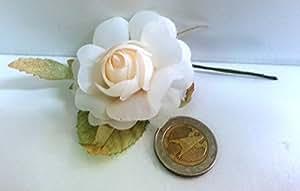 Set 15 pezzi, Bomboniera fiore MINI BOUQUET CAMELIA , segnaposto confetti. (ck1732)