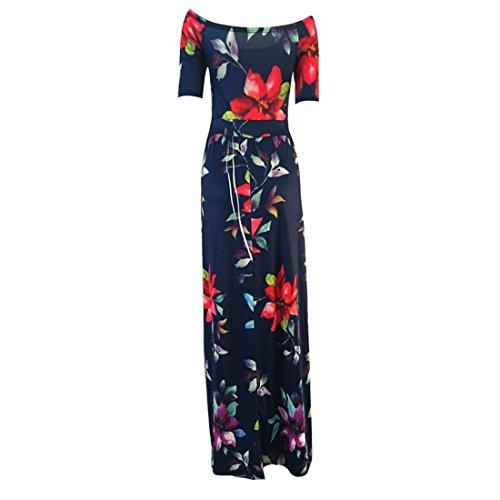 Xjp Women Sexy Short Sleeve Printed Bodycon Dress (M)
