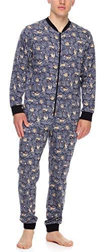 Timone Herren Schlafanzug Strampelanzug Schlafoverall TI30-119(Faultier, XL)