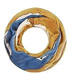Majea Damen Loop Schal viele Farben tolle Muster Schlauchschal Halstücher, Senf-gelb 17, 180 x 90