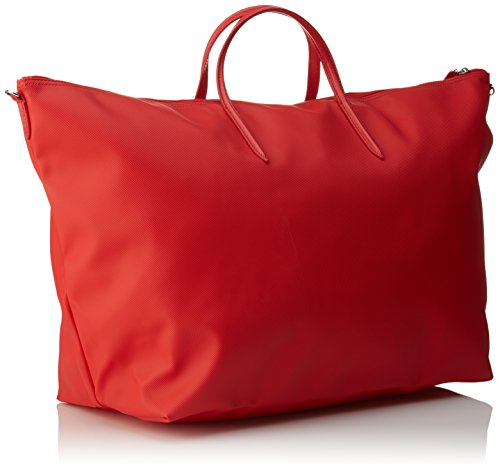 Lacoste NF1947PO, Borsa a Tracolla Donna, 36.5 x 22 x 42.5 cm Rouge (High Risk Red)