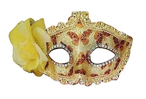 Venitiens Kostüm - Blancho Bedding Schöne Maskerade Maske Party Maske Venetian Augenmaske, Gelbe Blume