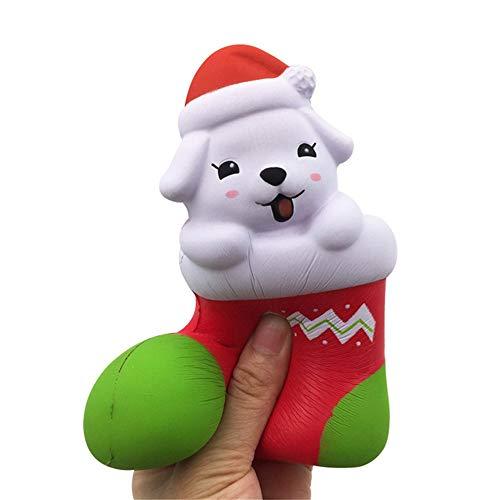 Juguetes Antiestrés, Nino, Cachorro de Navidad Squishy Kawaii Cartoon Perfumado Super Lento Aumento Lindos Niños Juguete Juguetes Descompresión