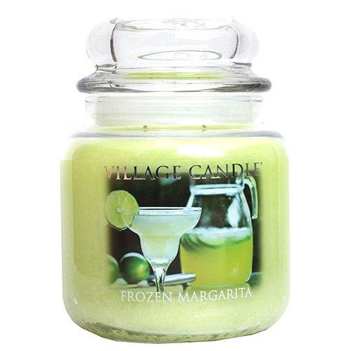 Village Candle Gefrorene Margarita Duftkerze im Glas, 454 g, grün, 10.1 x 10.3 cm - Grün Gefrorenen Glas