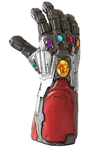 Endgame Cosplay Tony Stark Thanos Infinity Rot Latex Gauntlet mit Power Gems Replica Erwachsene Halloween Verkleiden Kostüm Merchandise Zubehör ()
