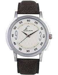 Jack Klein Round Dial Leather Strap Elegant Analog Wrist Watch For Men
