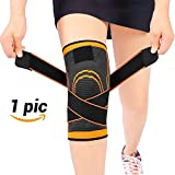 Sportneer Knee Sleeve, Compression Fit Support -for Joint Pain and Arthritis Relief, Improved