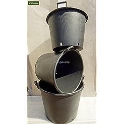 Extra Große Töpfe - Pflanzkübel Palmentöpfe Baumkübel kunststoff schwarz 65 bis 110 Ltr. (Höhe 40cm - Ø 55cm - 65 Ltr.)