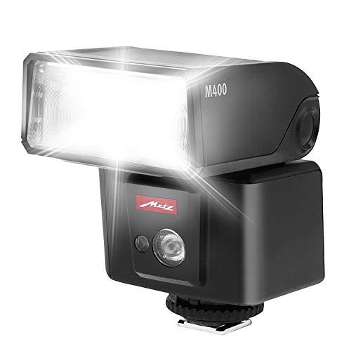 Metz mecablitz M400 für Sony | Ultra-kompakter & leistungsstarker Systemblitz mit Leitzahl 40 | Made in Germany, OLED-Display, TTL, HSS | Ideales Zubehör für kleine DSLRs & spiegellose Kameras