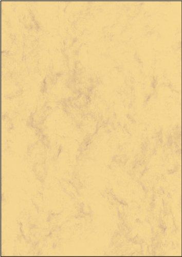 Sigel DP553 Marmorierter Karton/Papier sandbraun, A4, 50 Blatt, Motiv beidseitig, 200 g - weitere Farben