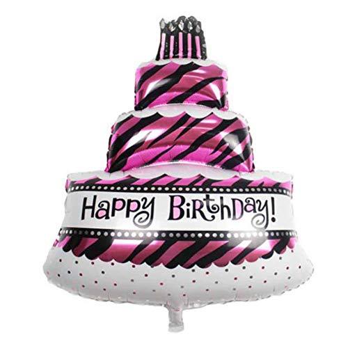 Wind Ziel Baby Geburtstag Party Dekoration Supplies Drei Schichten Geburtstag Kuchen Luftballons Aluminium Folie Ballons in zufälliger Farbe, 8 (Ziel Party Supplies)