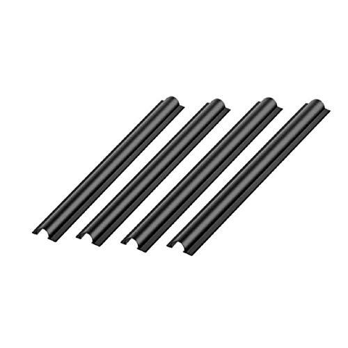 Vaycally Schwarz 80 '16mm (4 STÜCKE) Breite Split Loom Wire Flexible Versteckte Autokabelschoner, geeignet für Datenrecorder wie Fahrrekorder, GPS, Autoladegeräte usw