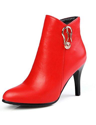 CU@EY Da donna-Stivaletti-Formale / Casual-Comoda / Stivali-A stiletto-PU (Poliuretano)-Nero / Rosso / Grigio red-us6 / eu36 / uk4 / cn36