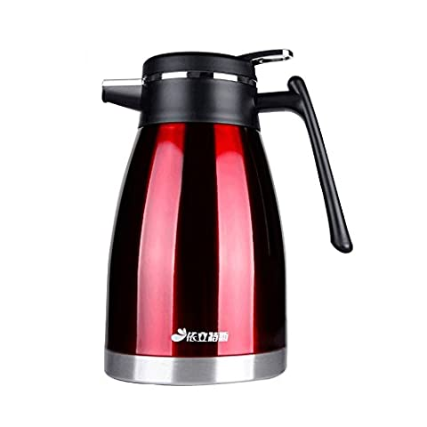 Haehne 1.5 Litres Flasks 304 Stainless Steel Vacuum Jug - 1.5 Litres - Red
