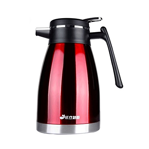 Haehne 1.5 Litres Flasks 304 Stainless Steel Vacuum Jug - 1.5 Litres - Red Go Travel-cup-kessel