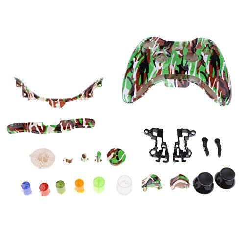 Vollgehäuseschale Fall Kits Für Xbox 360 Wireless Controller - Camo Grün - Wireless Xbox Controller Camo 360